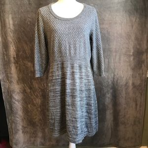 Lane Bryant Gray Silver-Shot Knit Dress 14 16